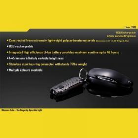 NITECORE Tube – Ladattava taskulamppu avaimenperä