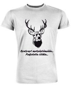 Syntynyt metsästämään, pakotettu töihin! – Premium T-paita