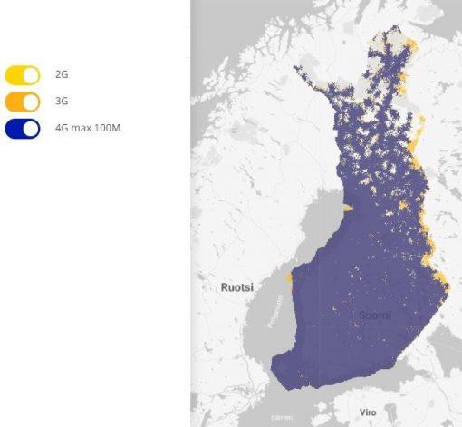 Saunalahti(Elisa) Huoleton 5g 300 M – Liittymä älypuhelimeen